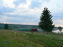 Alapaevsk railway TU7-2388 with passenger train.jpg
