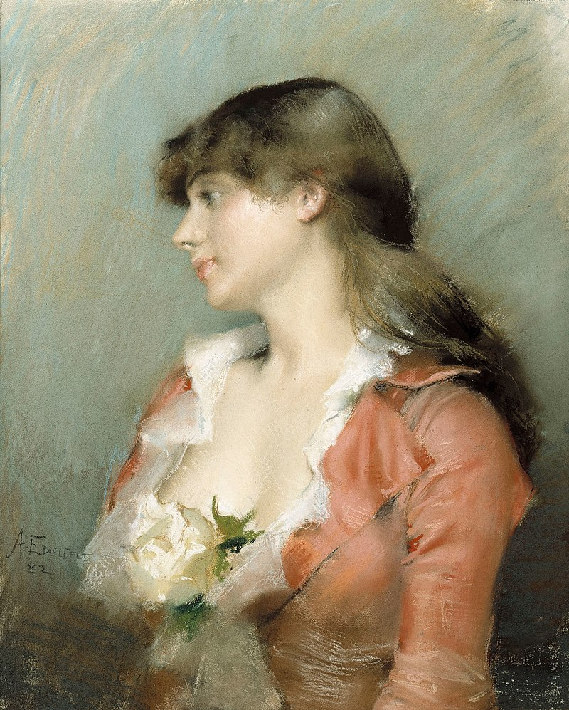 Albert Edelfelt - Profile of a Young Woman - A I 539 - Finnish National Gallery.jpg