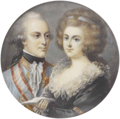 Albert of Saxony-Teschen and his wife Marie Christine of Austria.png