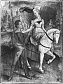 Albrecht Dürer (Kopie nach) - Der Spazierritt (nach Dürers Kupferstich B. 82) - 4686 - Bavarian State Painting Collections.jpg