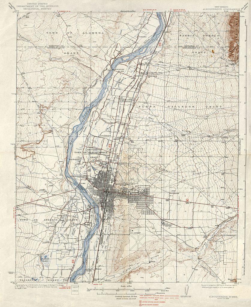 File:Albuquerque Quadrangle Topographical Map, 1938.jpg - Wikimedia ...