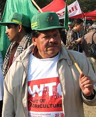 Via Campesina - Rafael Alegría, Regional Coordinator for La Vía Campesina in Central America: Jean-Marc Desfilhes 2005