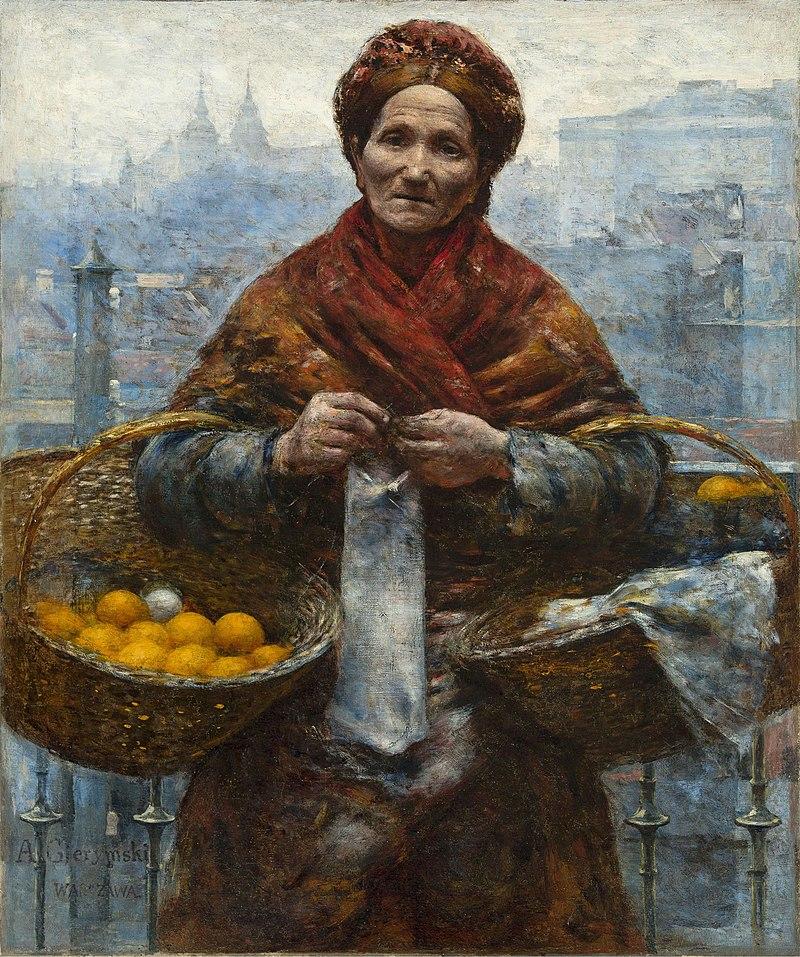 Aleksander Gierymski - Jewish woman selling oranges - Google Art Project.jpg