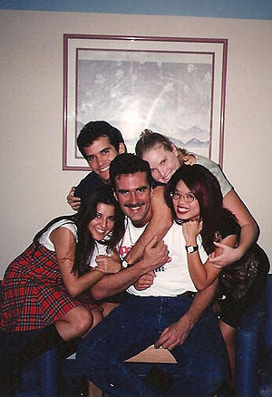 Judd Winick - Winick (upper left) in 1994 with (left to right): Rachel Campos, Alex Escarno, Cory Murphy and his then-girlfriend (now wife) Pam Ling