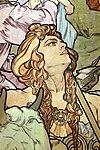 Alfons mucha, l'epoca romana e l'arrivo degli slavi, dipinto per padiglione bosnia-h. all'esp. univ. di parigi del 1900, 08.jpg