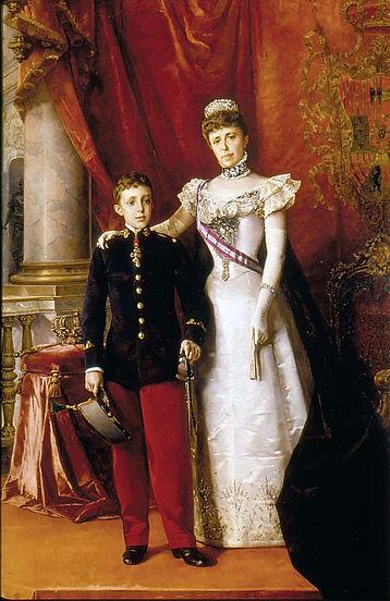 ファイル:Alfonso XIII y María Cristina Regente. 1898. Luis Alvarez Catalá.jpg