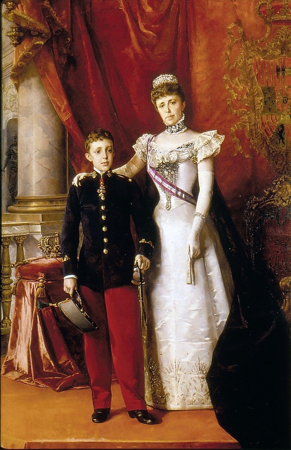 Alfonso XIII y María Cristina Regente. 1898. Luis Alvarez Catalá