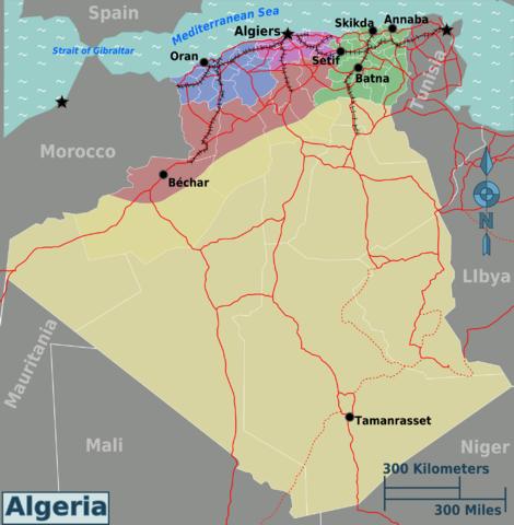 Regionalkarte Algerien