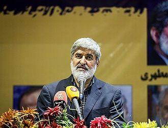 Iranian legislative election, 2016 - Ali Motahari speaking in PV's convention
