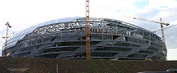 Allianz Arena under construction (August 2004).