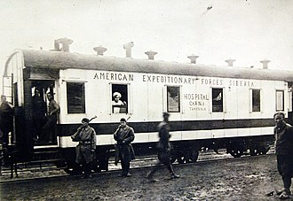 American Expeditionary Force, Siberia - AEF Hospital Car Number 1 at Khabarovsk, Russia