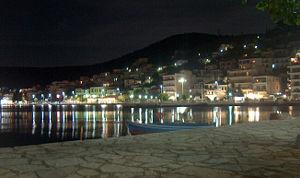Amfilochia - Amfilochia port at night