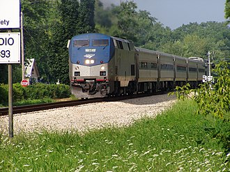 Porter County, Indiana - Amtrak's Wolverine passing through Porter, Indiana