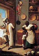 Anónimo - Escena del Méjico colonial
