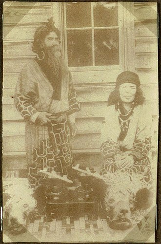 Ainu people - An Ainu Couple in Japan (1914)