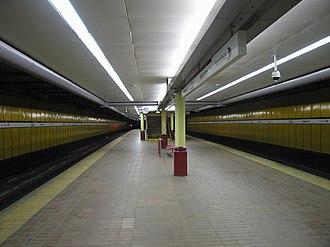 Anderston railway station - Platforms at Anderston
