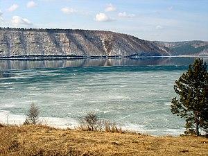 Angara River - Image: Angara Lake Baikal 1