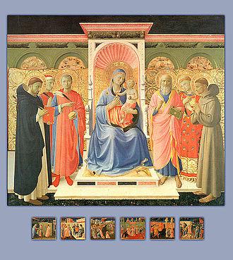 Sacra conversazione - Image: Angelico, pala di annalena con predella