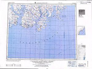 Sermilik - Map of Angmagssalik with Sermilik in the left.
