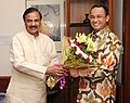 Anies Rasyid Baswedan meeting the Minister of State for Culture (Independent Charge), Tourism (Independent Charge) and Civil Aviation, Dr. Mahesh Sharma, in New Delhi on September 08, 2015.jpg