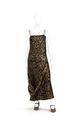 Ankellång aftonklänning, rak modell med axelband av glaspärlor och strass - Hallwylska museet - 89257.tif