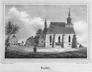 Seelitz - Image: Annenkirche Seelitz 1840
