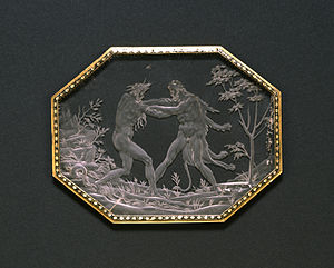 Annibale Fontana - Image: Annibale Fontana Plaque with Hercules and Achelous Walters 4171