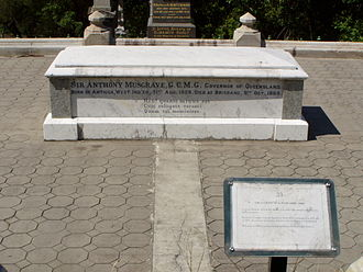 Anthony Musgrave - Burial site of Sir Anthony Musgrave at Toowong Cemetery.