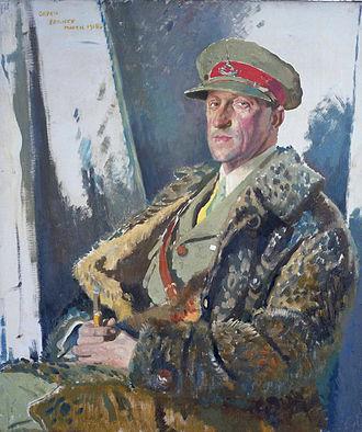 Prince Antônio Gastão of Orléans-Braganza - Prince Antoine d'Orleans et Braganza, MC Portrait by William Orpen, 1918