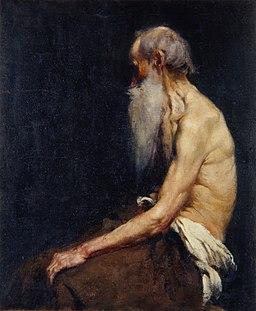 Anton Ažbe - Polakt sedečega starca