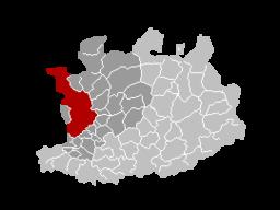 Antwerpens läge i provinsen Antwerpen