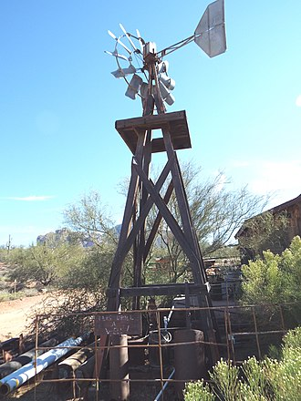 Apache Junction, Arizona - Image: Apache Junction Superstition Mountain Museum Windmill