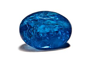 Apatite - Faceted blue apatite, Brazil