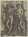 Apollo standing at the left, his hand resting on the shoulder of Hyacinthus, Cupid in the lower right MET DP853531.jpg