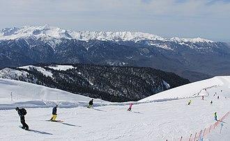 Caucasus - Rosa Khutor alpine ski resort near Krasnaya Polyana, Sochi