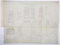 Arbetsritning, fastigheten nr 4 Hamngatan. Fönster och dörrar - Hallwylska museet - 105273.tif