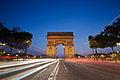 Arc de Triomphe à l'heure bleue, May 2012.jpg