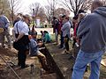 Archaeologist Jason Shellenhamer with tour group, Patterson Park (16336797375).jpg
