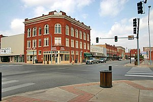 Streets in downtown Ardmore, Oklahoma