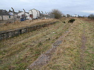 Lanarkshire and Ayrshire Railway - The site of Ardrossan North railway station