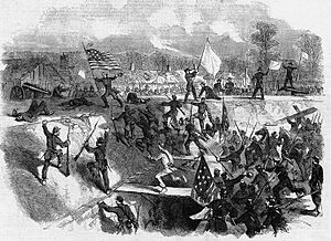 Frank Leslie's Illustrated Newspaper - Image: Arkansas Post Battle(Civil War)