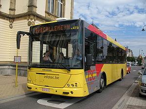 Société Régionale Wallonne du Transport - Image: Arlon TEC Namur Luxembourg Jonckheere Transit 2000 n°4473 L25 Arlon Gare SNCB (2)