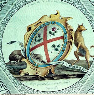 Flag of Montreal - Original 1833 Coat of arms of Montreal