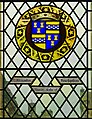 Arms of Alexander Stewart, Earl of Buchan on stained glass window, Great Hall, Stirling Castle.jpg