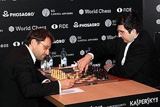 Levon Aronian - Levon Aronian vs Vladimir Kramnik at the Candidates Tournament 2018
