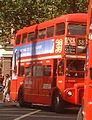 Arriva route branding for Routemaster route 38, 10 August 2004.jpg