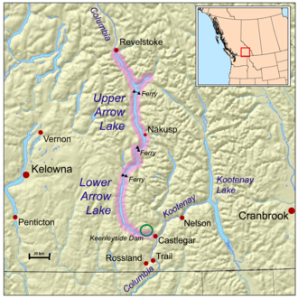 Syringa Provincial Park - Syringa Provincial Park is in the green circle on the north side of the lake.