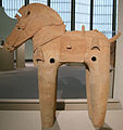 Arte giapponese, cavallo haniwa, VI sec., 01.JPG