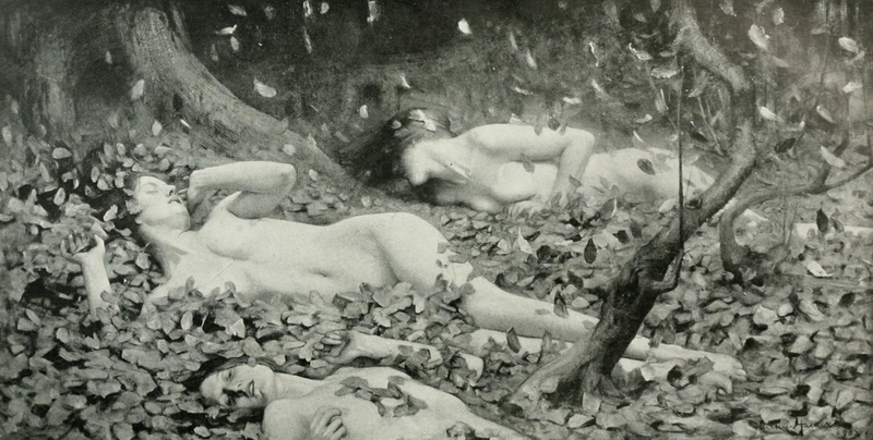 File:Arthur Hacker - Leaf Drift - 1919.png