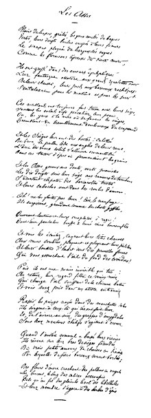 Arthur Rimbaud, manuscrit des Assis.